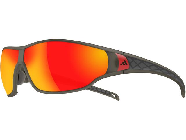 adidas Tycane L Pyöräilylasit , harmaa/punainen